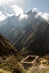 Inka Trail mit Inka Stätte